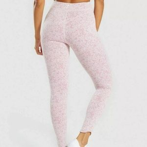 Gymshark Pants - Gymshark Fleur Texture Pink Leggings XS NEW
